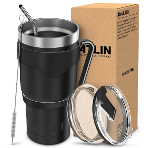 Today Only: Atlin Tumbler 30 oz. Double Wall Stainless Steel Vacuum Insulation @ Amazon