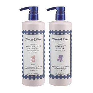 Noodle & Boo 2-in-1 Newborn Hair & Body Wash and Super Soft Lotion Bundle @ Amazon