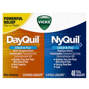 Vicks DayQuil and NyQuil Cold &Flu Relief LiquiCaps Convenience Pack
