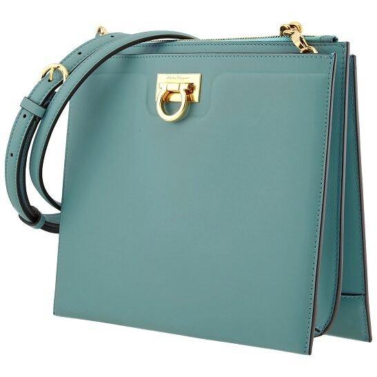 Ferragamo  Turquoise Trifolio 水蓝色斜挎包