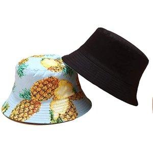 菠萝双面渔夫帽
