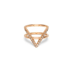 Icon Ring with White Diamonds