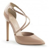 Zapatos Tacones Altos Pleaser SEXY-26 Beige barniz - PoleDanceShopping.com
