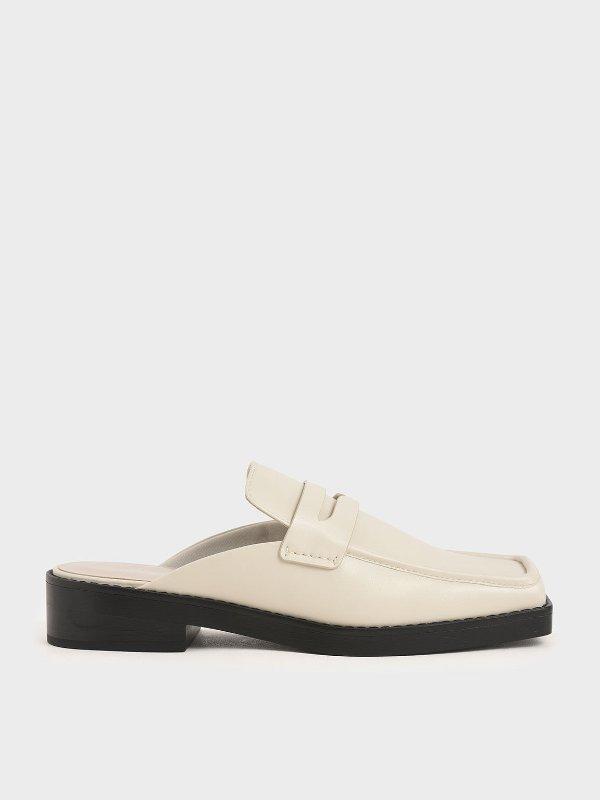 方头乐福穆勒鞋