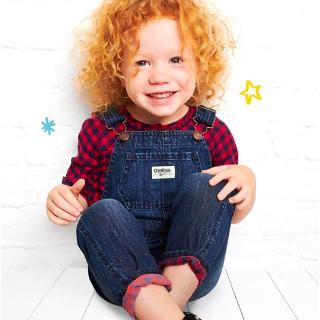 全场包邮+低至5折+额外$7.5折 $14.25起OshKosh BGosh 招牌儿童背带裤、背带裙优惠