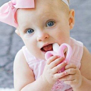 $5.97Baby Banana 香蕉宝宝婴儿牙刷牙胶 粉色
