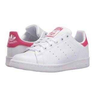 $36.73(原价$65)+包邮adidas 经典小白鞋,粉色 Stan Smith 大童款,成人也能穿