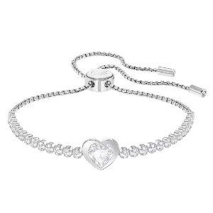 Dealmoon 独家85折!Swarovski Rhodium Plated Adjustable Heart 水晶手链