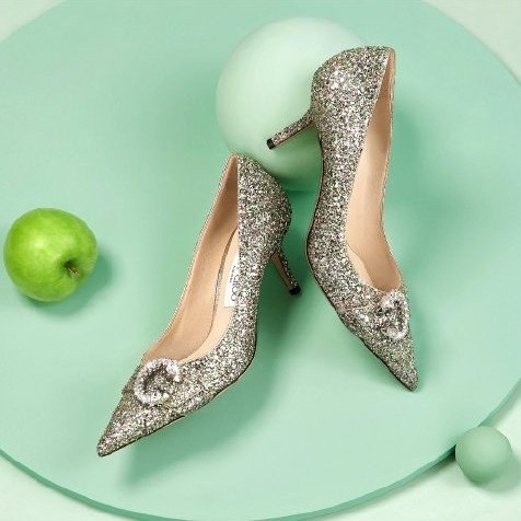 亮片高跟鞋