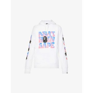 A Bathing ApeGraphic-print relaxed-fit cotton-blend hoody