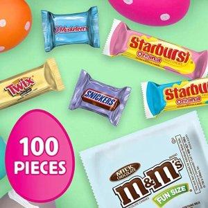 M&M's 士力架等5种口味巧克力复活节糖果 32oz 100颗