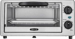 $14Bella 4-Slice Toaster Oven - Black/silver
