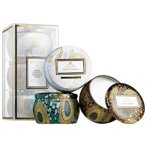 Mini Candle Trio - Nissho-Soleil, Baltic Amber, French Cade & Lavender - VOLUSPA | Sephora