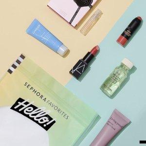 $10(价值$36) 含8.5折劵上新:Sephora Favorites 系列新款 Hello! Beauty 套装