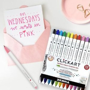彩色水性笔10支$9.1Zebra 书写笔 收糖果色啫喱笔、Disney合作款  凑单带上它萌