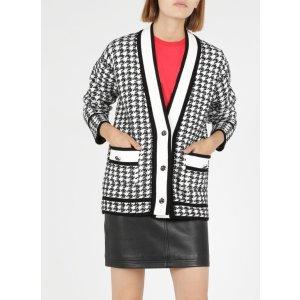Claudie Pierlot黑白千鸟格小香风针织外套