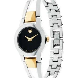 Dealmoon Exclusive: MOVADO Amorosa Black Dial Ladies Watch 0606893