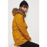 H&M 姜黄色派克大衣