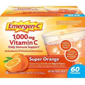 $12.84(原价$18.99)Emergen-C 维生素C冲剂 60包