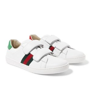 $390Gucci Kids Ace logo-print leather sneakers @NET-A-PORTER