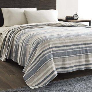 Twin尺寸仅$22.39Eddie Bauer 百分百纯棉盖毯 多尺寸可选