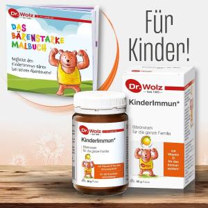 仅售€13.49 2岁以上就能吃Dr. Wolz 伍兹博士 儿童免疫力冲剂 含复合维生素和活性菌群