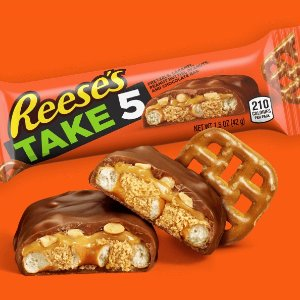 $17.95REESE'S TAKE5 Chocolate, Peanut Butter Candy Bar, King Size (Pack of 18)