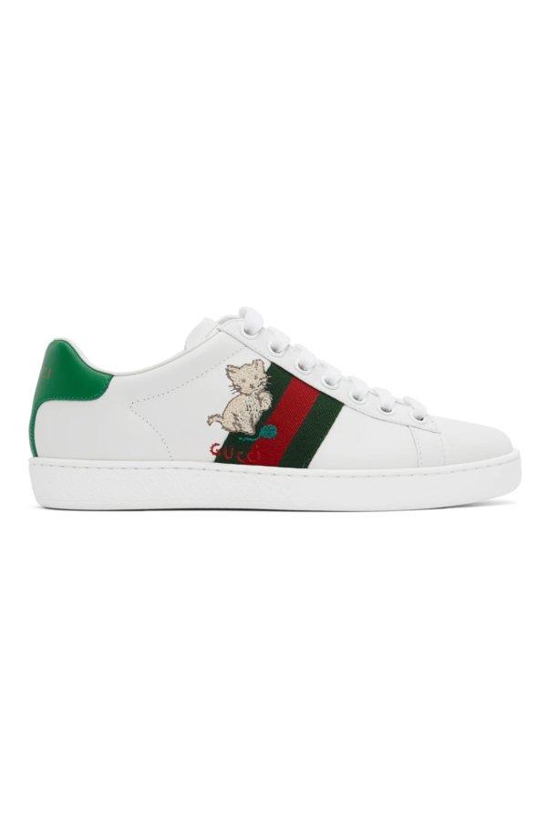 猫咪小白鞋