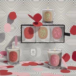 浆果、无花果、玫瑰3种味道Diptyque 60周年限定香氛蜡烛Dancing Oval 正式发售