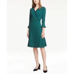 Ann TaylorPlaid Roll Neck Sheath Dress
