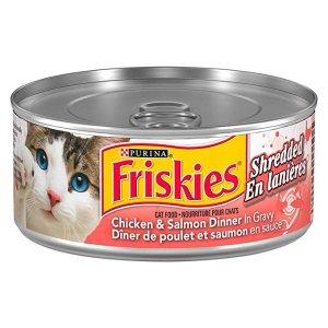 Friskiesadd-on商品鸡肉三文鱼猫罐头 156g