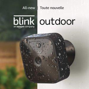 史低$159.99 (原价$239.99)Blink 全新Outdoor无线高清安全摄像头  门前车库随意安放