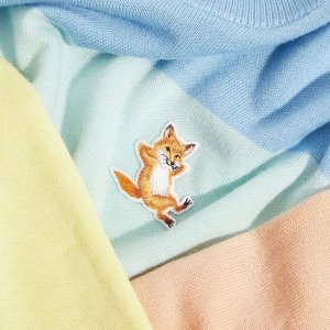 5.3折起+额外7.5折 $82收小狐狸T恤上新:Maison Kitsune 清新美衣折上折 $198收薄荷色小狐狸卫衣