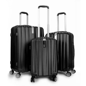 $79Deco Gear Travel Elite Series - 3 Piece Hardside Spinner Luggage Set