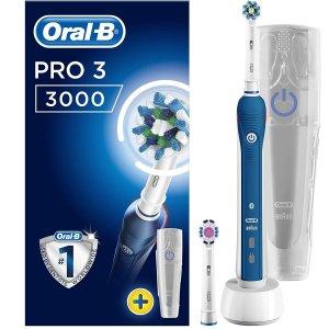 现价£34.99(原价£99.99)Oral-B Pro 3 3000 专业护理电动牙刷带旅行盒