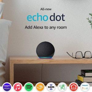 全新第四代 Echo 系列 亚马逊智能管家音箱 Alexa