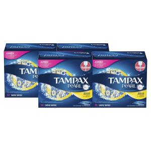 秒杀¥271,折合¥1.3/支Tampax 珍珠卫生棉条 无味 50支/4盒装