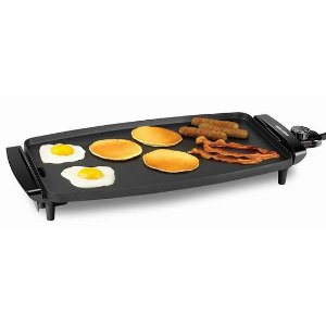$46.97(原价$59.99)BLACK_DECKER 家用不粘底电烤盘/铁板烧 聚会烤肉吃起来