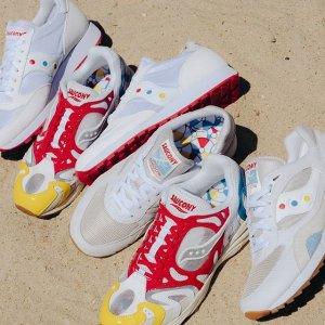 低至6折+满额再8折+免邮Saucony官网 小众复古风美式运动鞋促销