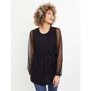Motherhood MaternityExtra $10 Off on $50Sheer Sleeve Textured Maternity BlouseShop Maternity Fashion & Basics Online