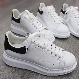 8折+免所有税Alexander McQueen 潮流专场 $400+到手价经典小白鞋