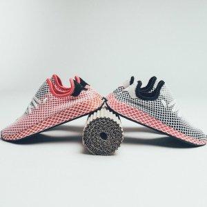 7折 + 免邮免退,$49收封面鹿晗款一年一次:adidas 最新Deerupt潮鞋打折啦,王嘉尔等众星同款