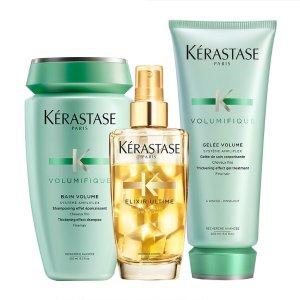 Kerastase丰凝充盈三件套装 洗发水250ml+护发素200ml+护发精油100ml
