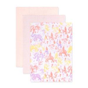 Burt's Bees BabyExtra Absorbent Organic Burp Cloths Ello Elephants - 3 Pack
