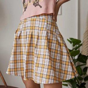2.5折起 £9就收学院风格纹裙Urban Outfitters 女团风短裙 学院风、BM风超低价