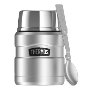 Thermos SK3000STTRI4 Stainless King Vacuum-Insulated Food Jar With Folding Spoon, 16 oz