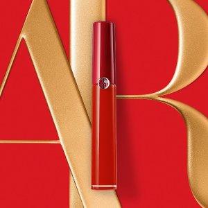 低至6折+满送红管口红Armani Beauty 美妆香水套装促销 红管唇釉低至$18