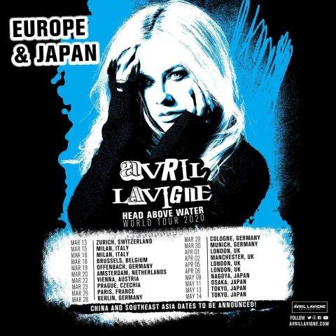 3月26日天顶场 还有余票艾薇儿 世界巡演巴黎站 摇滚女神涅槃重生