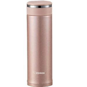 $18.99Zojirushi SM-JTE46PX Stainless Steel Travel Mug with Tea Leaf Filter, 16-Ounce/0.46-Liter, Pink Champagne