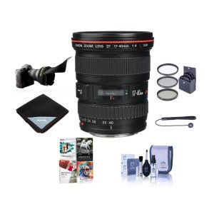 Canon EF 17mm-40mm f/4L USM Lens + Accessories